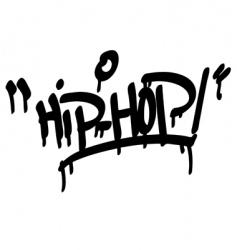 hip hop type vector image