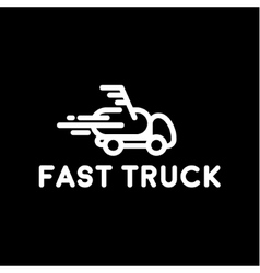 Hurtling truck speed linear style with loop vector