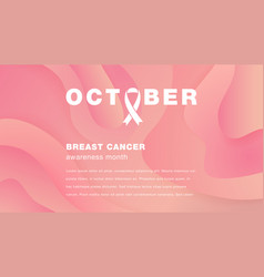 landing page breast cancer awareness month vector image