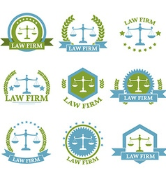 Law Firm logo set vector image