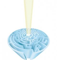 maze challenge vector image