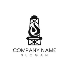 Oil tower company logo vector