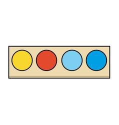 Paint palette art vector
