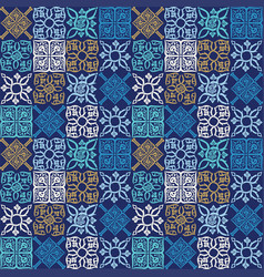 Pattern in the form of mediterranean tiles vector