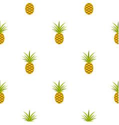 pineapple pattern seamless vector image