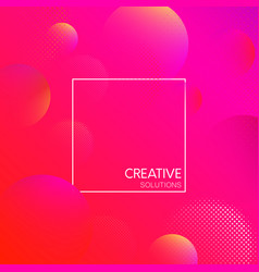 pink creative solutions background with bubbles vector image