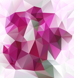 Pink magenta abstract polygon triangular pattern vector