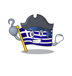 Pirate flag greece isolated in character vector