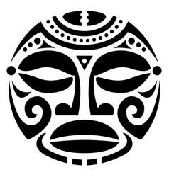 Polynesian maori face tattoo pattern hawaiu vector