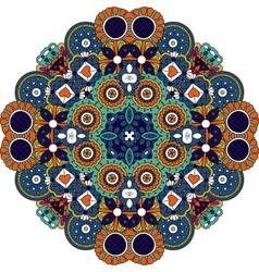 Pretty geometric design colored orange and blue vector