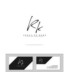 R k rk initial logo signature handwriting vector