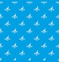renovation pattern seamless blue vector image
