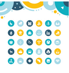 set simple icons vancouver vector image