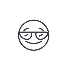 smiling emoji with sunglasses concept lin vector image