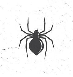 spider silhouette in retro style vector image