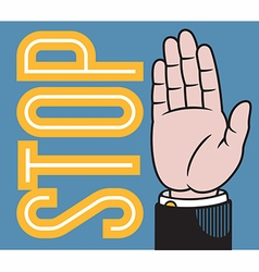 Stop or wave hand vector