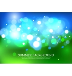 Summer magical background with blurred bokeh vector image