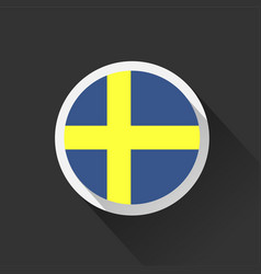 sweden national flag on dark background vector image
