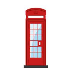 Telephone box isolated vector