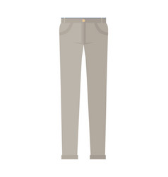 trousers unisex pants isolated on white background vector image