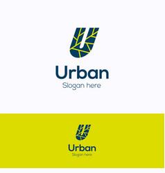 U urban logo vector