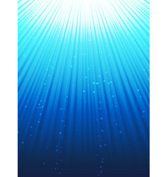 Under water rays vector