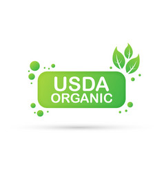 Usda organic emblems badge sticker logo icon vector