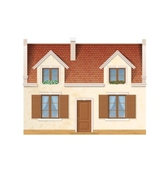 Village house facade vector
