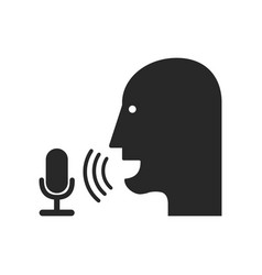 Voice record icon vector