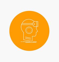 Vr googles headset reality virtual white line vector