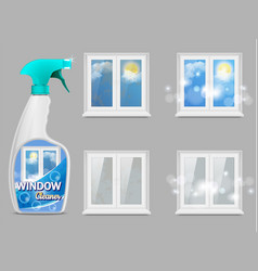 Window cleaning detergent 3d realistic vector