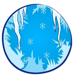 Winter Season Window vector image