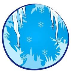 Winter Season Window vector image