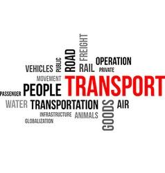 Word cloud transport vector