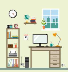 workspace im room vector image