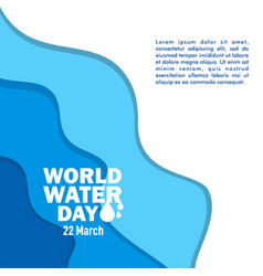 World water day template design vector