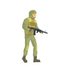 army soldier men in camouflage combat uniform vector image vector image