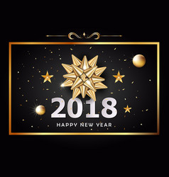 happy new year background and celebration vector image