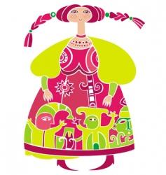 russian girl vector image