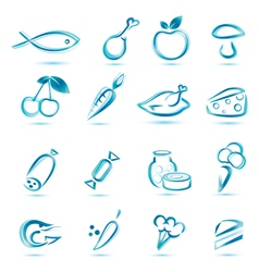 all food icons vector image vector image