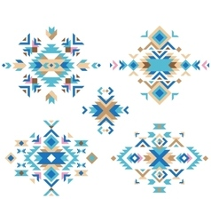 colorful tribal design elements vector image vector image