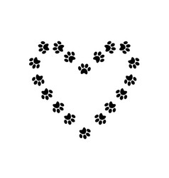 heart symbol with space for text made of animal vector image
