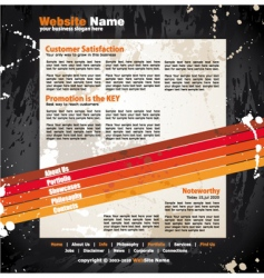 modern artistic web design template vector image vector image