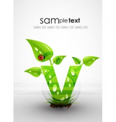 natural themed typography vector image