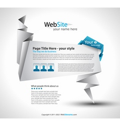 origami website vector image vector image