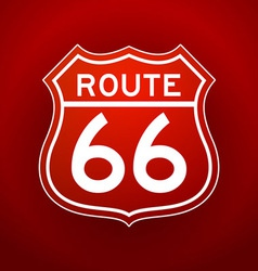 Red Route 66 Silhouette vector image