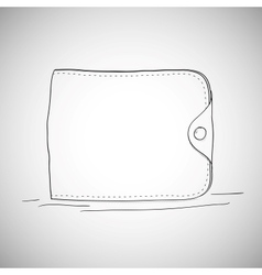 Closed wallet hand drawn sketch style on white vector image vector image