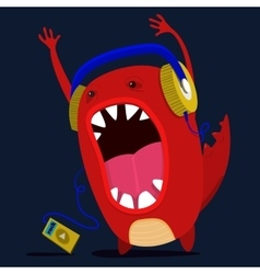 cute monster graphic vector image vector image