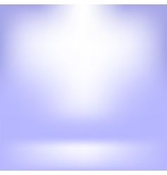 Empty Studio Light Blue Abstract Background vector image