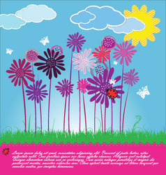 Funny Floral background vector image vector image